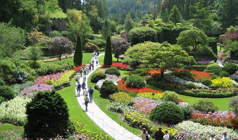 Butchart Gardens in Victoria, Vancouver Island