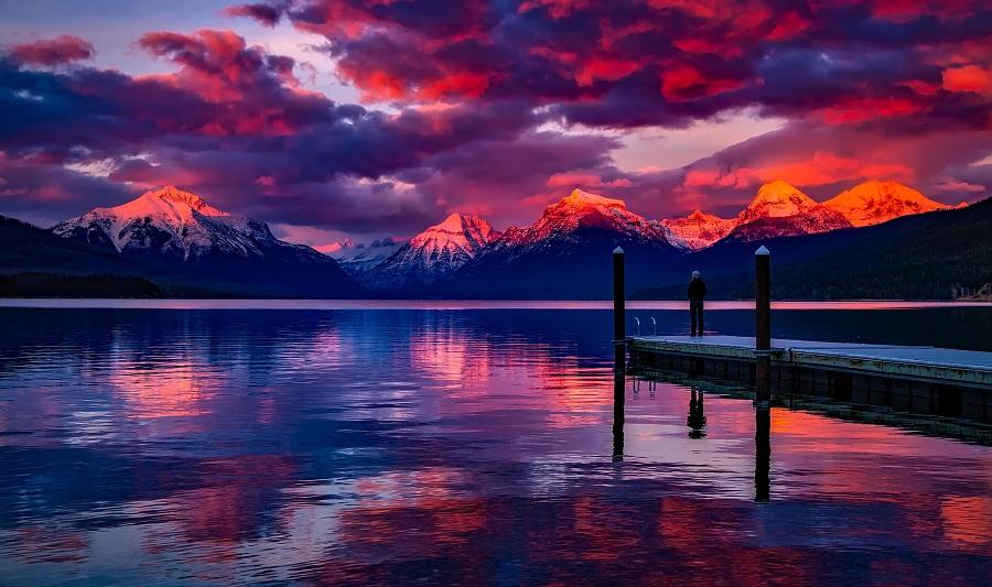 Lake McDonald, Glacier Nationalpark, Montana
