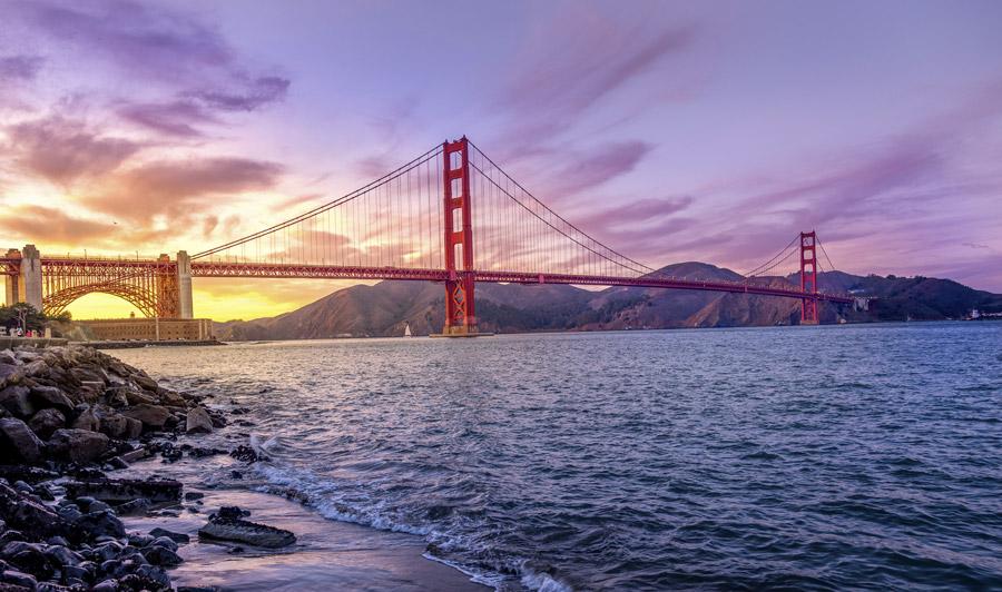 Golden Gate Bridge Sonnenuntergang