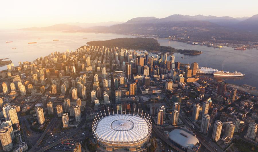Vancouver aus der Luft