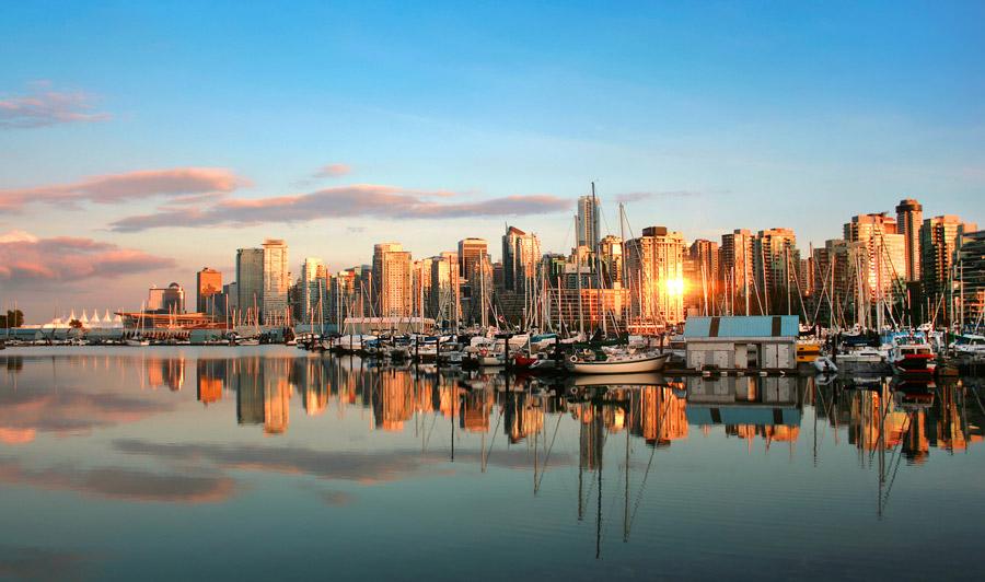Vancouver Skyline Sonnenuntergang
